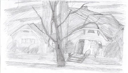 sketch of my uncle's house
