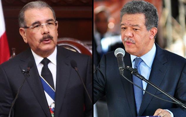 Danilo Medina y Leonel Fernández son dos dirigentes importantes del PLD, pero sus sectores han entrado en confrontación.