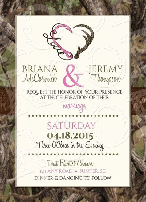 17 Best ideas about Camo Wedding Invitations on Pinterest