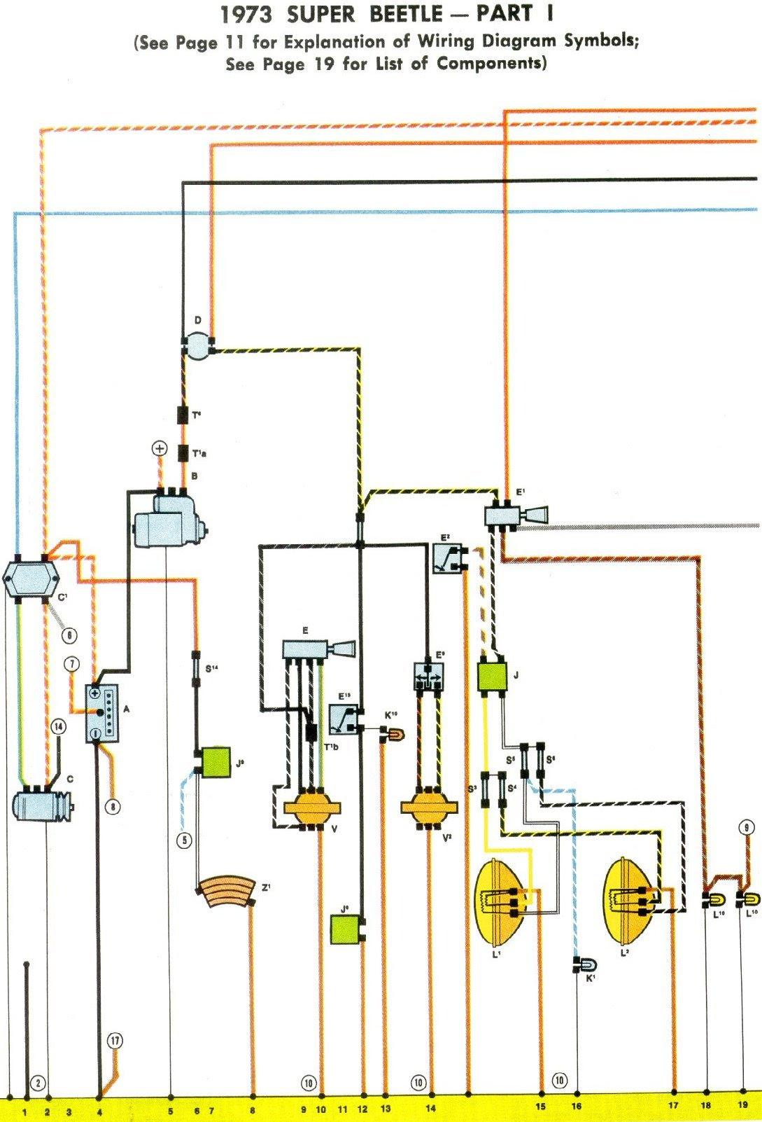 1973 Vw Wiring Diagram Wiring Diagram Instruct Instruct Cfcarsnoleggio It