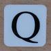 Tile Letter Q