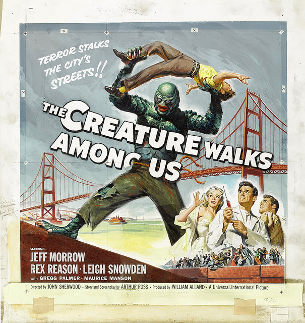 Reynold Brown - The Creature Walks Among Us, (original art) 1955