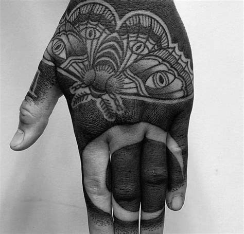 black tattoos men blackout design ideas