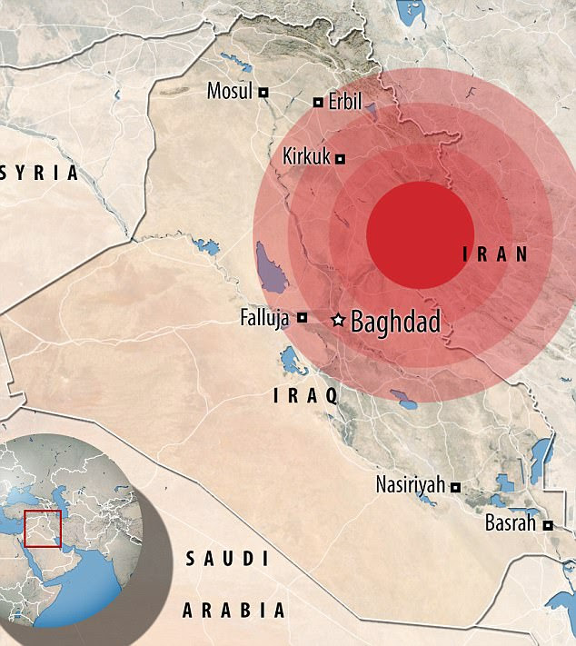 An earthquake with a magnitude of 7.3 struck Iraq on Sunday rocking Baghdad more than 200 miles away. The epicentre was 103 km (64 miles) southeast of the city of As-Sulaymaniyah near the Iranian border