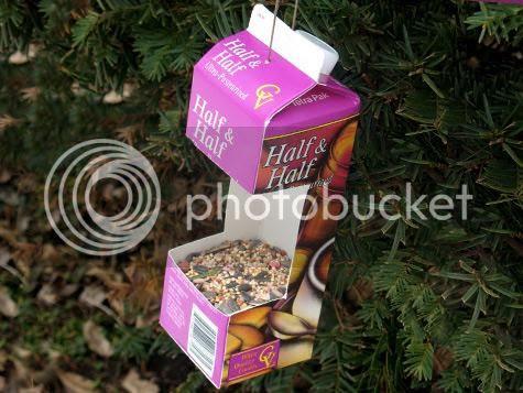 recycled milk carton bird house