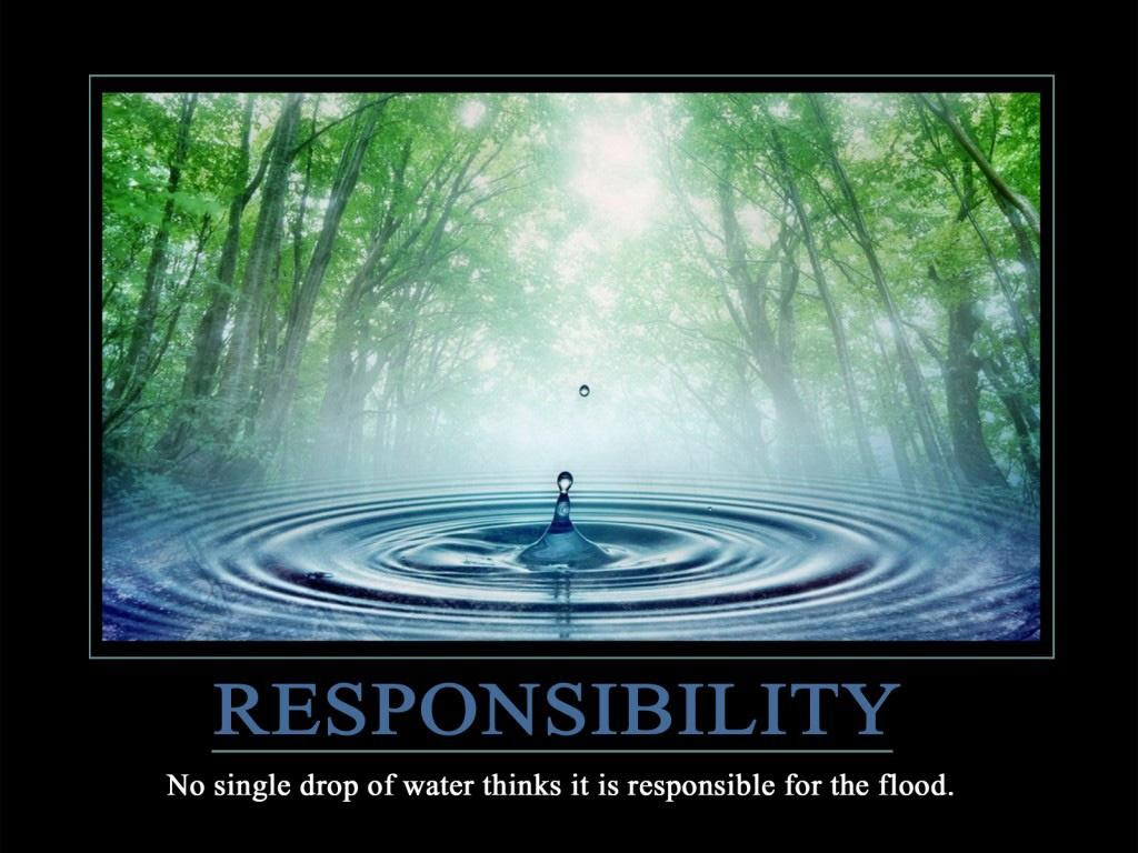 Responsibility No Single Drop Of Water Thinks It Is Responsible