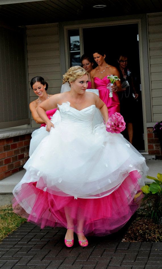 love this color pink for bridesmaid dressed!!