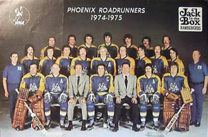 1974-75 Phoenix Roadrunners team, 1974-75 Phoenix Roadrunners team