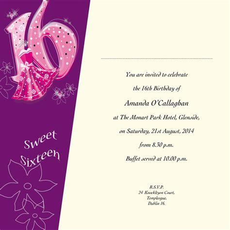 Occasion Card 16 1i   Sweet 16th Birthday   wedding