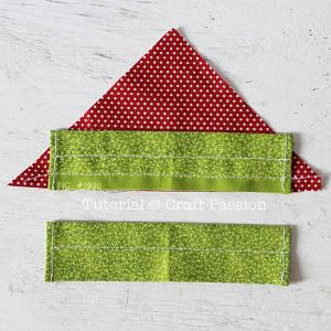 sew strawberry drawstring bag
