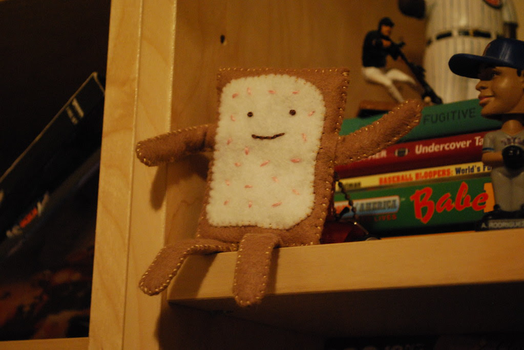 felt pop-tart guy