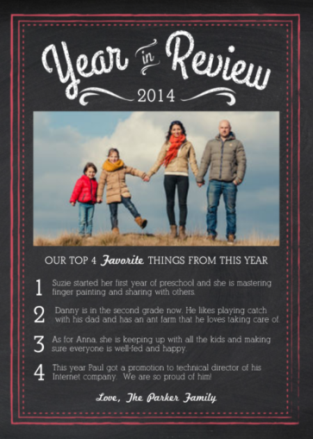 Mixbooks Top Year In Review Card Ideas Mixbook Inspiration