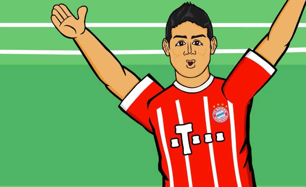 Destacan Actuación De James En El Bayern Múnich Con Esta Caricatura