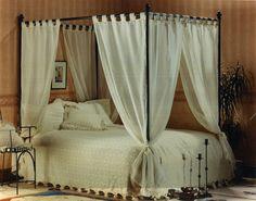 Melanie's Room - canopy bed on Pinterest