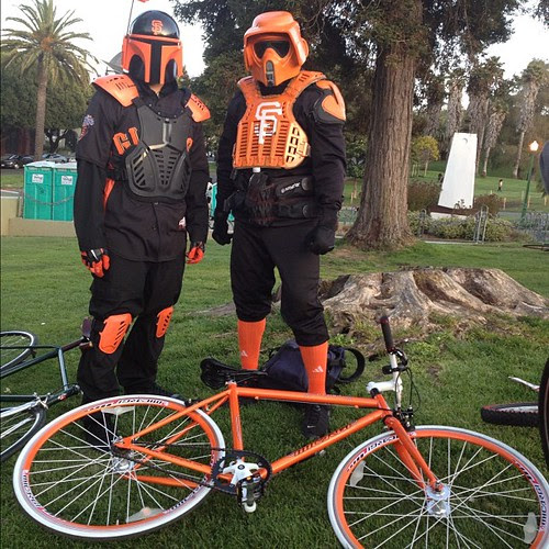 Representing the empire @sfbikeparty. #sfbp #giants #nofilter