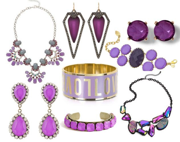 Radiant Orchid Jewelry: The Hot New Color You'll Love to Wear to Work #coloroftheyear #pantone2014