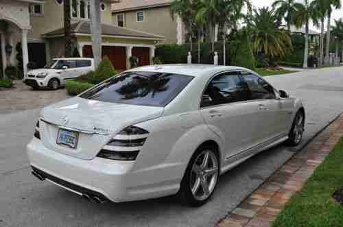 Sell used 2009 Mercedes-Benz S63 White Extended Warranty ...