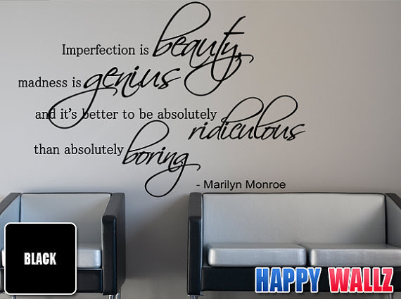 Marilyn Monroe Wall Quotes Vinyl Sticker Quote Art Decor Love ...