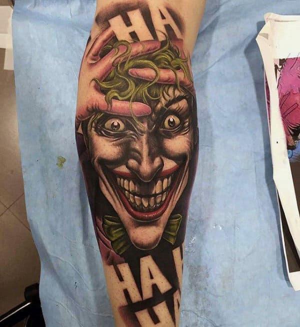 90 Joker Tattoos For Men - Iconic Villain Design Ideas