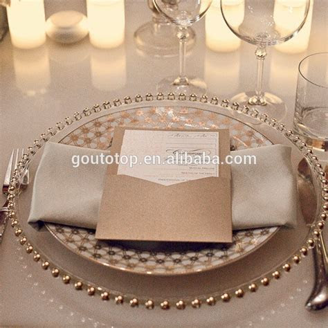 Cheap Bulk Hotel Wholesale Wedding Gold Silver Clear Steak