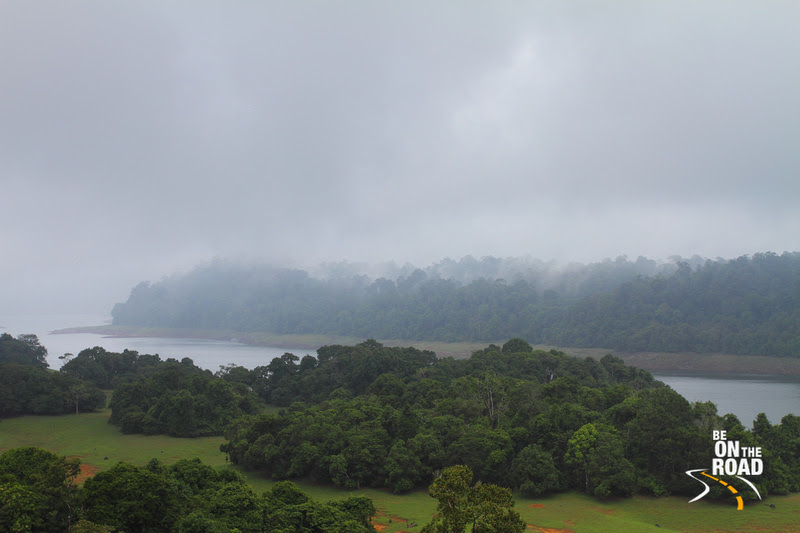Mist settles in on the Poringalputhu Reservoir