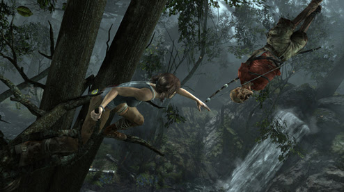 The Reach screenshot from the new Tomb Raider