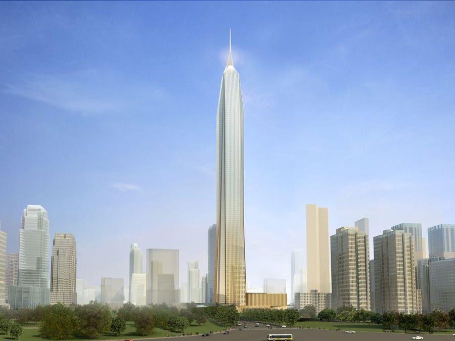 #2 Ping An International Finance Center — Shenzhen, Gaungdong, China. Height (when completed): 2,125.98 feet