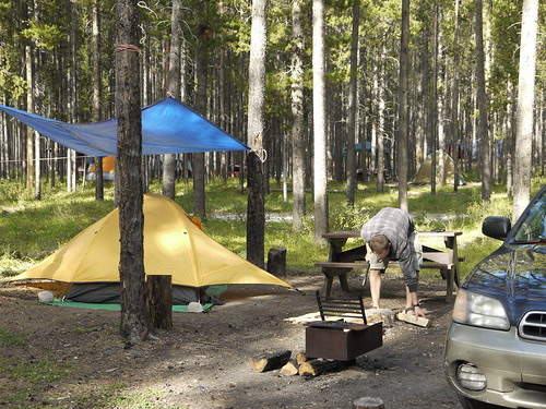 Two Jack Lake camping, Banff, AB