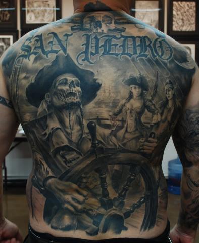 Full Back Skull Tattoo By Carlos Torres Design Of Tattoosdesign Of