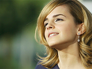 A atriz Emma Watson, que está triste com o fim dos  filmes 'Harry Potter'.