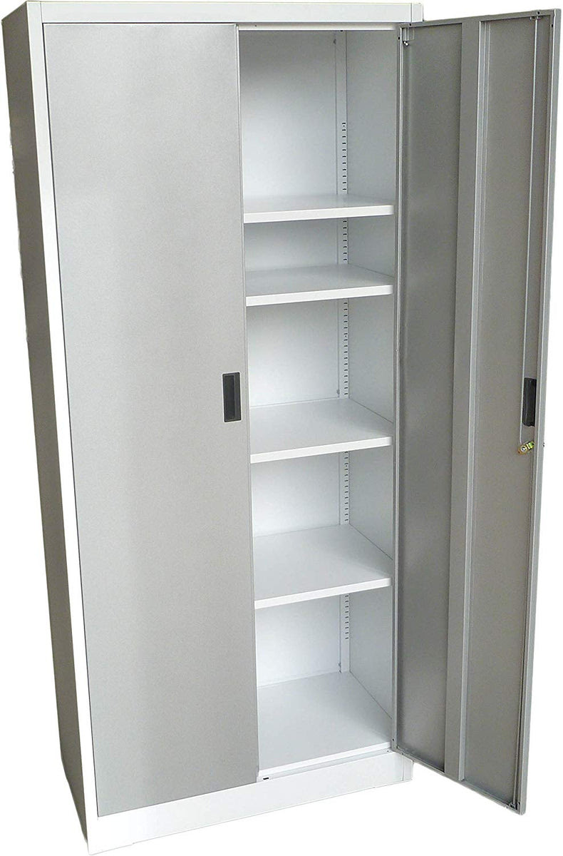 """Steel Storage Cabinet 71"""" Tall with Lockable Doors and ..."""