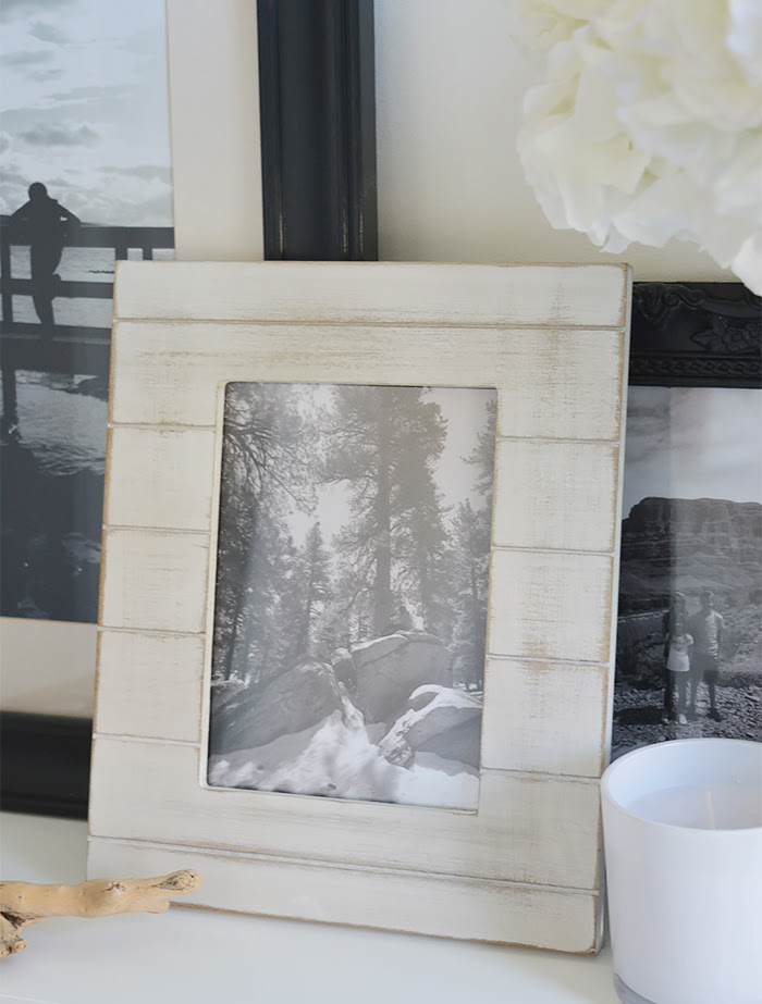 Coastal Home Decor accessories DIY - sand a photo frame to give a weathered look typical of the beach and coast