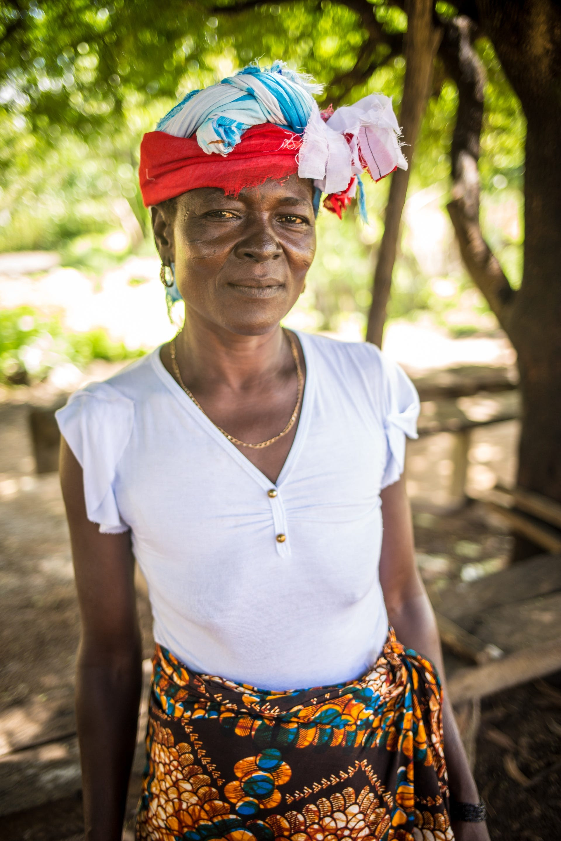 Baromie Kamara, deputy head sowei in her chiefdom, is unhappy the village chief has banned cutting ceremonies. Photograph  Michael Duff