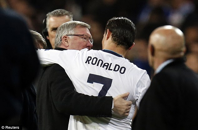 Then and now: Sir Alex Ferguson has never hidden his admiration for Ronaldo after guiding his career