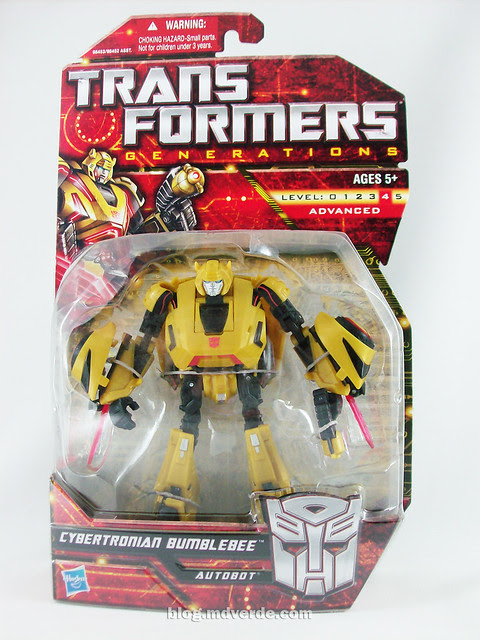 Transformers Cybertronian Bumblebee Generations Deluxe - caja