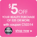$5 off $25 Beauty with Coupon C50314
