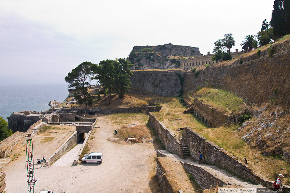 Старая Крепость, Керкира. Крепостные сооружения с северной стороны