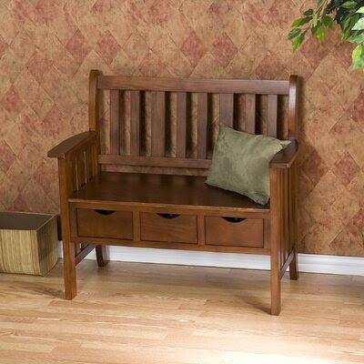 Wildon Home ® Stuart Storage Wood Entryway Bench   Wayfair