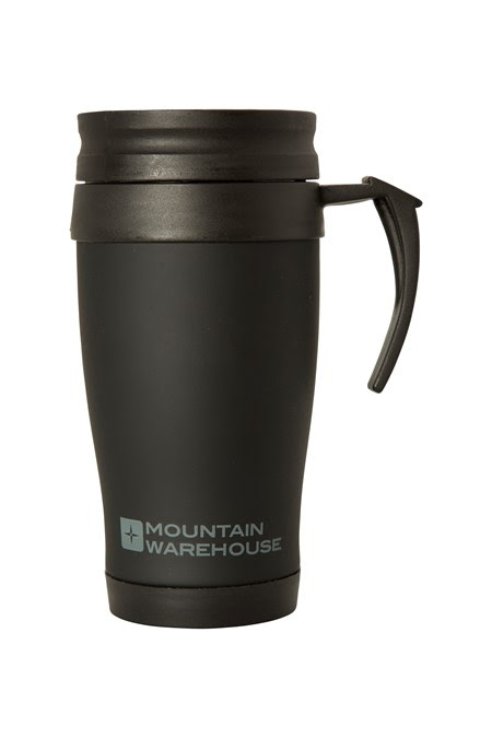 Rubber Feel Travel Mug With Handle 420ml Mountain Warehouse Gb