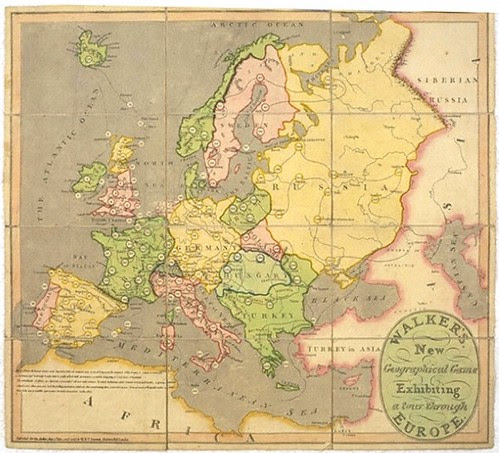 Walker's New Geographical Game Exhibiting a Tour Through Europe (vam.ac.uk)