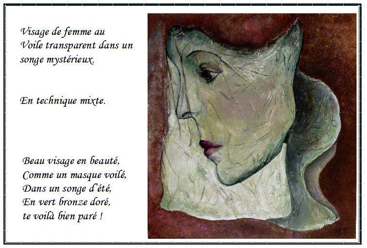 Visage De Femme Au Voile Transparent Dans Un Songe Et Son