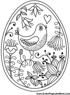 easter egg coloring pages for adults at getdrawings  free download