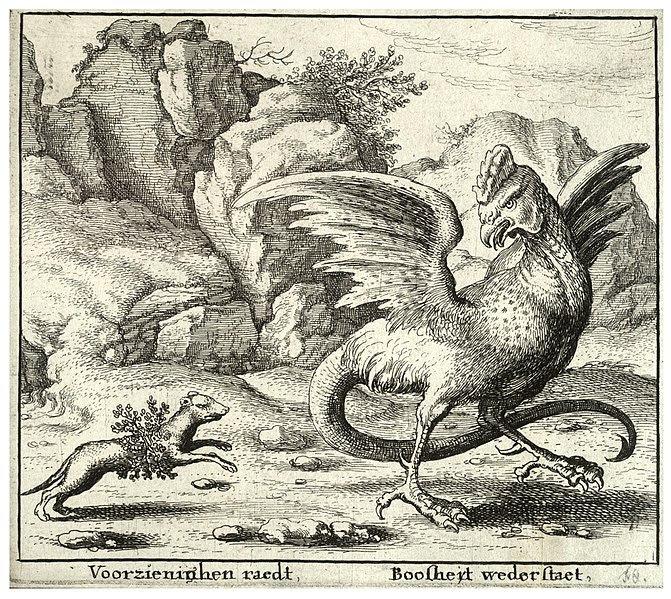 File:Wenceslas Hollar - The basilisk and the weasel.jpg