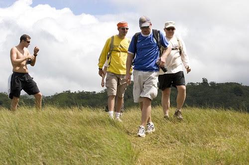 hiking back down Manana trail