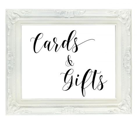 Cards & Gifts Wedding Sign, PRINTABLE Wedding Sign, Gift
