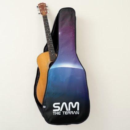 Monogram. You The Terran. Earth. Funny Gift. Guitar Case