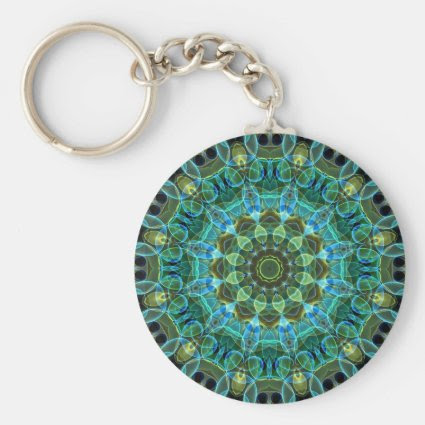 Owl Eyes kaleidoscope Key Chains