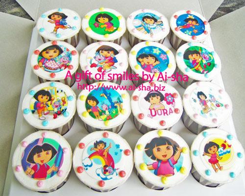 Cupcakes Edible Image Dora