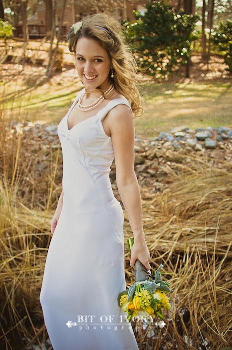 yellow and gray wedding bride