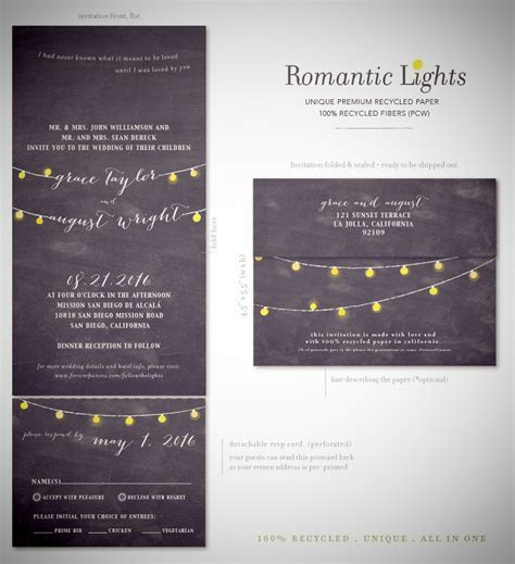 String of Lights Wedding Invitations   Romantic Lights by